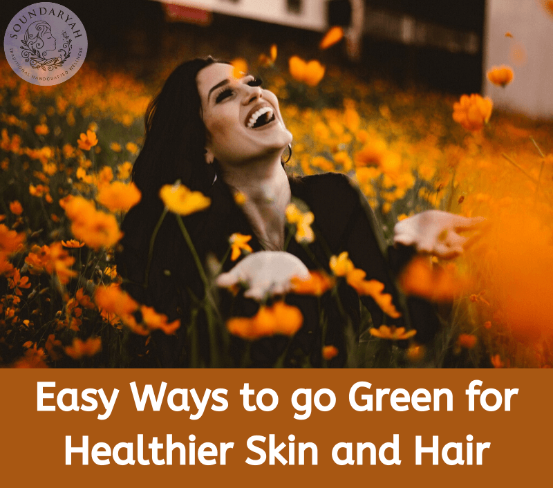 Using chemical beauty products hurts us in the long run, as well as the environment. Fix this with these easy ways to go green for healthier skin and hair.