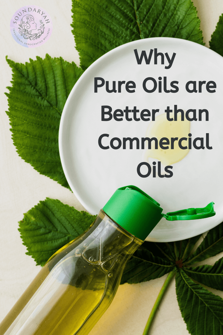 Don't get swayed by the beautiful packaging on commercial hair oils! Here are 10 reasons why pure oils are better than commercial oils - in every way!