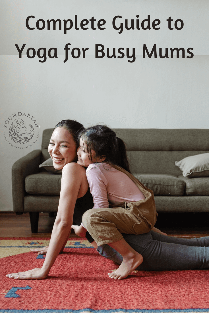 Check out our Complete Guide to Yoga for Busy Mums, with poses for all common issues Moms face, from postpartum weight gain to posture issues to stress.